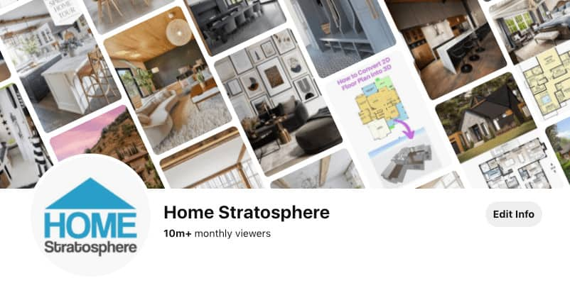 Pinterest account of Home Stratosphere