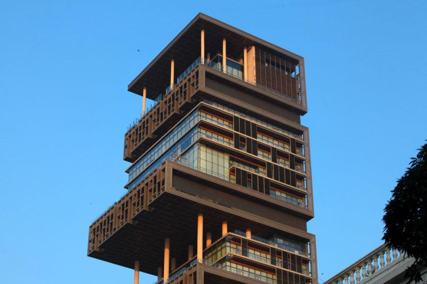 Antilia - the 27 story mansion in Mumbai, India