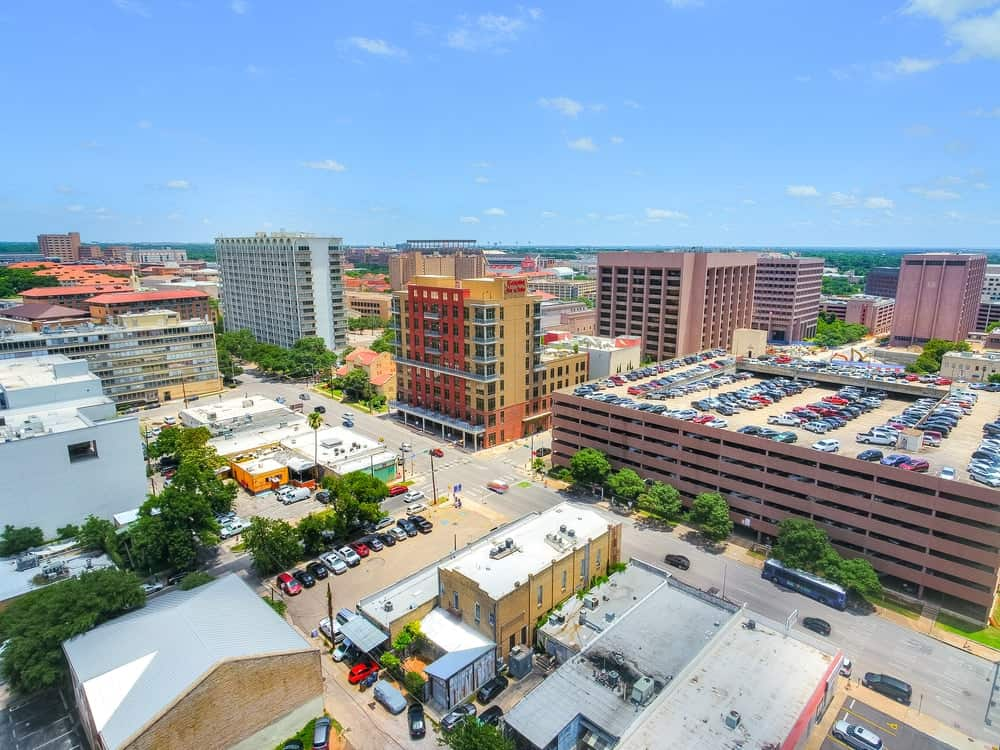This aerial view of the historic building shows you how unique the building is and how it stands out against the buildings beside it. Images courtesy of Toptenrealestatedeals.com.