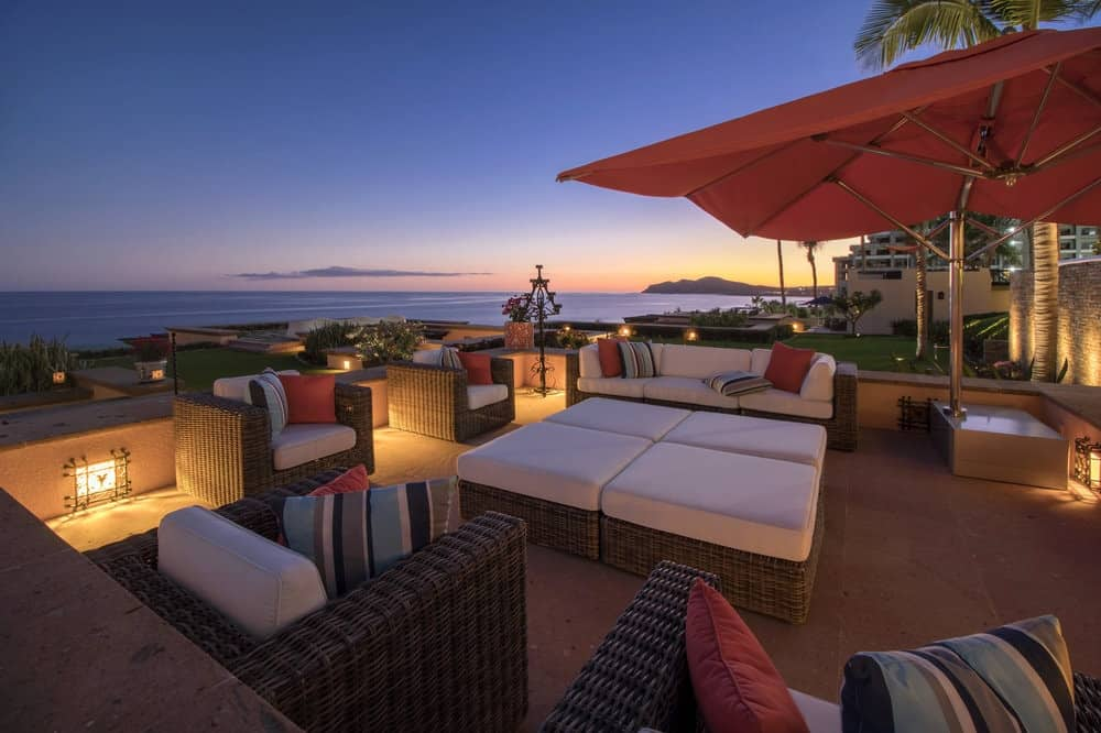 This is one of the relaxing patios and outdoor areas that is specially placed to better enjoy the scenic views of the ocean. This area has comfortable cushioned arm chairs, sofas and day beds. Images courtesy of Toptenrealestatedeals.com.