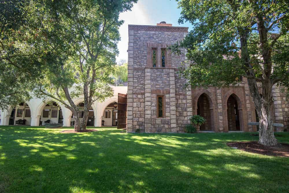This is the view of the side of the house with the rows of arches that give the house a unique elegant quality. Images courtesy of Toptenrealestatedeals.com.
