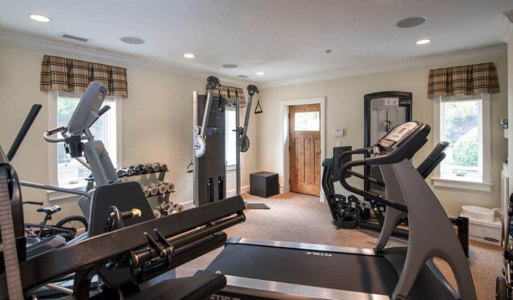 The home also has a home gym filled with top-notch gym equipment. Images courtesy of Toptenrealestatedeals.com.