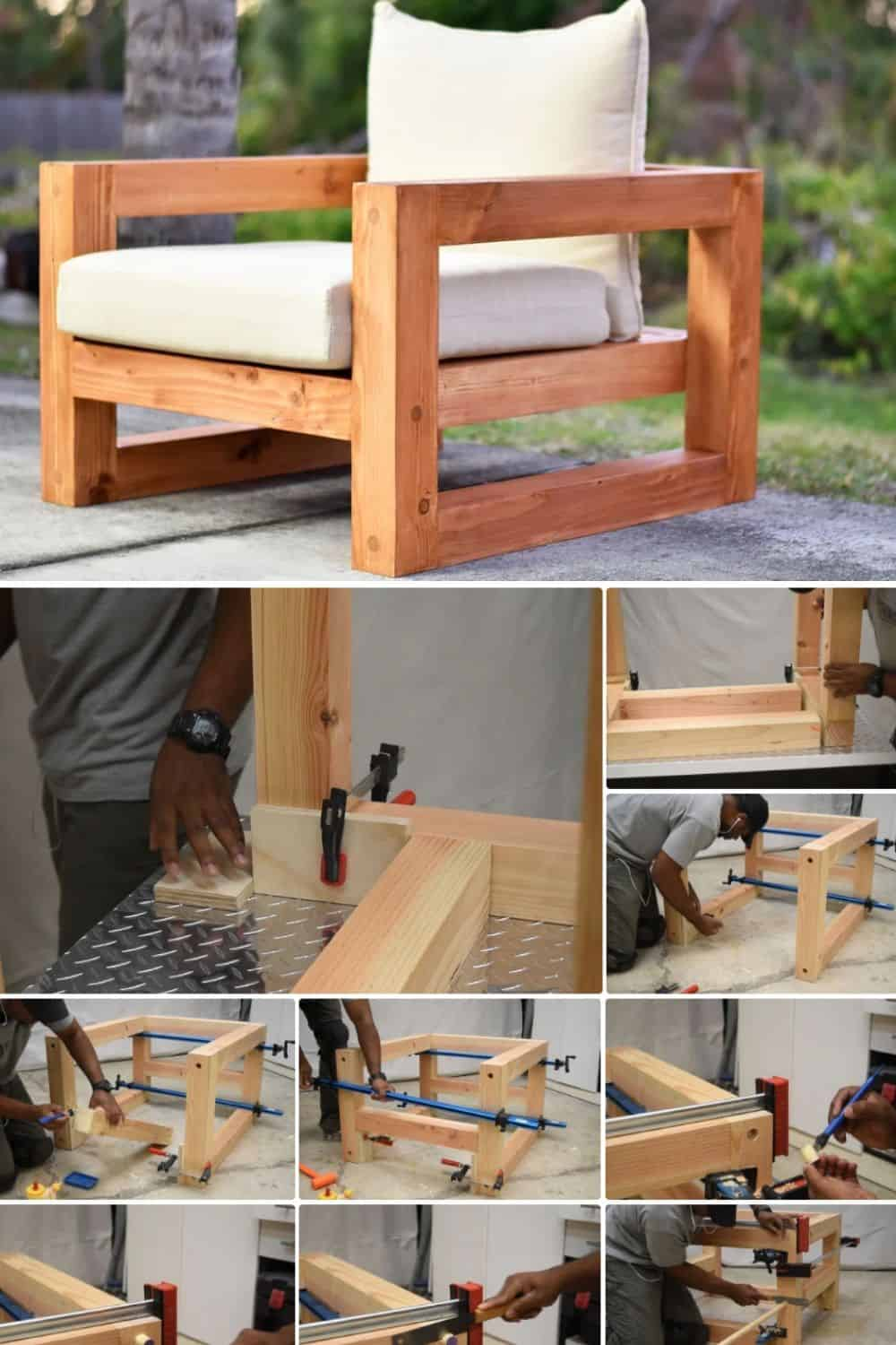 Finished DIY Wood Patio Chair