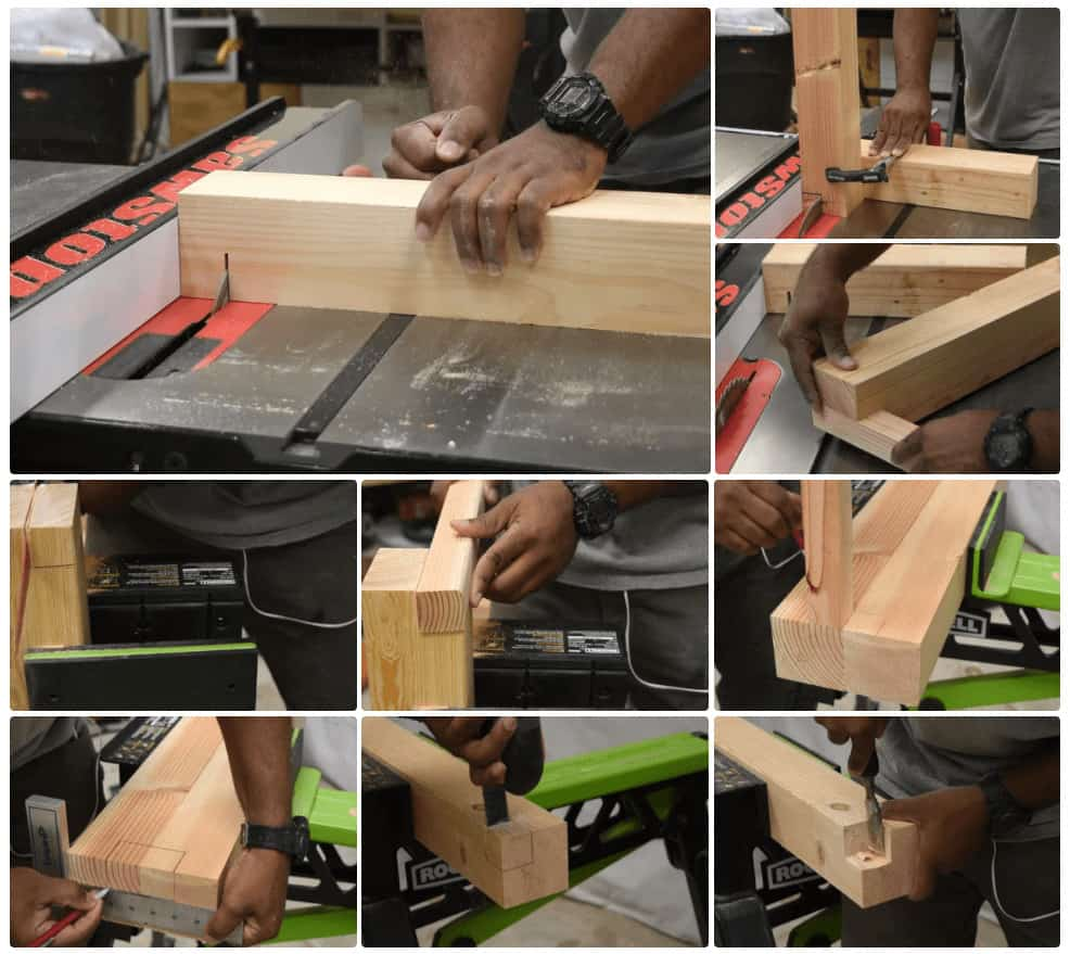 Cutting the Joints for the DIY Patio Chair