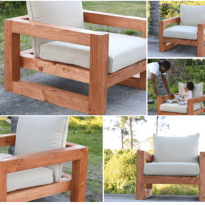 Finished DIY Patio Chair