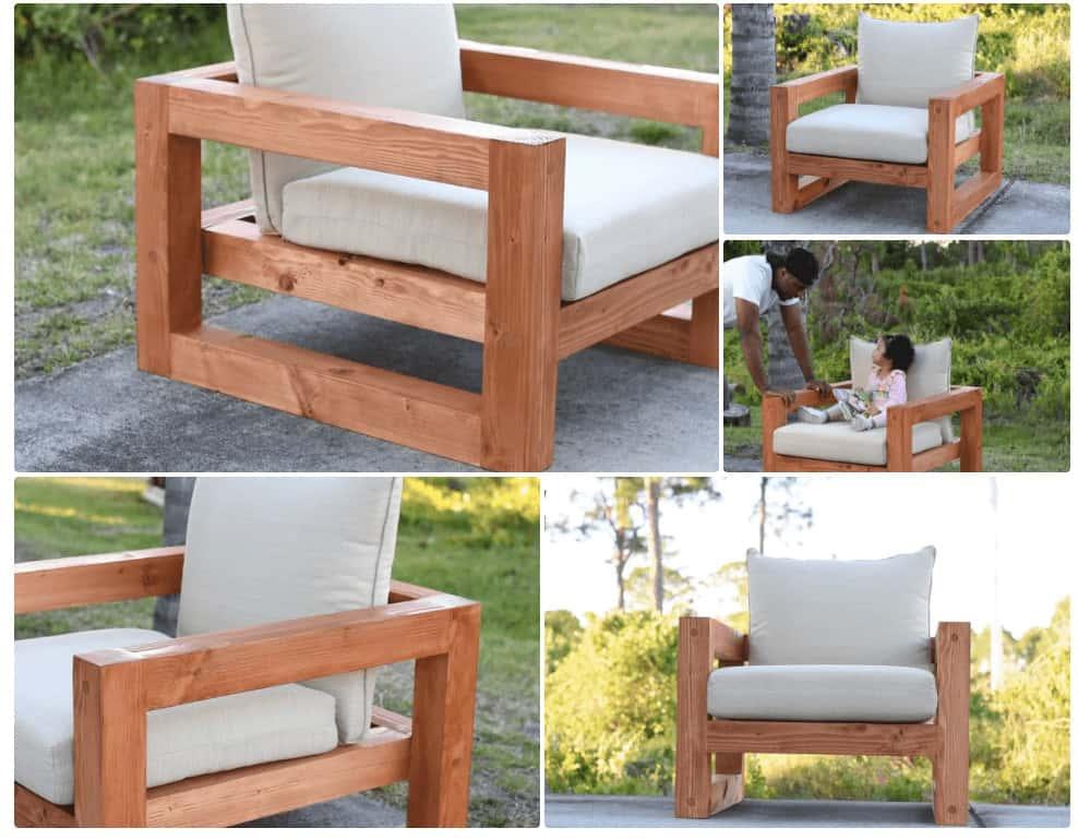 Diy Wood Lounge Patio Chair With