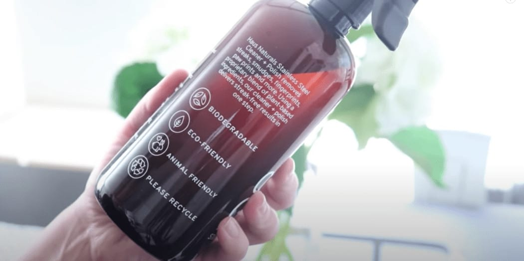 All-natural eco-friendly stainless steel cleaner