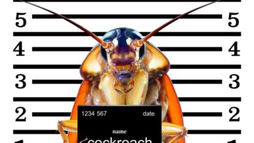 An image of a cockroach arrested.