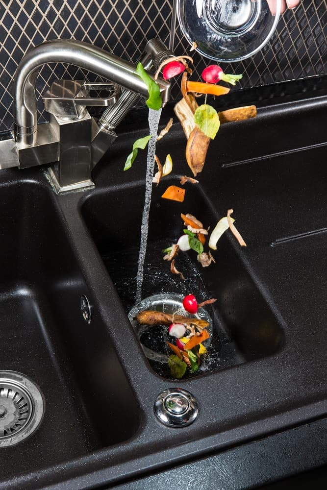 This sink is fitted with a food waste disposal machine.