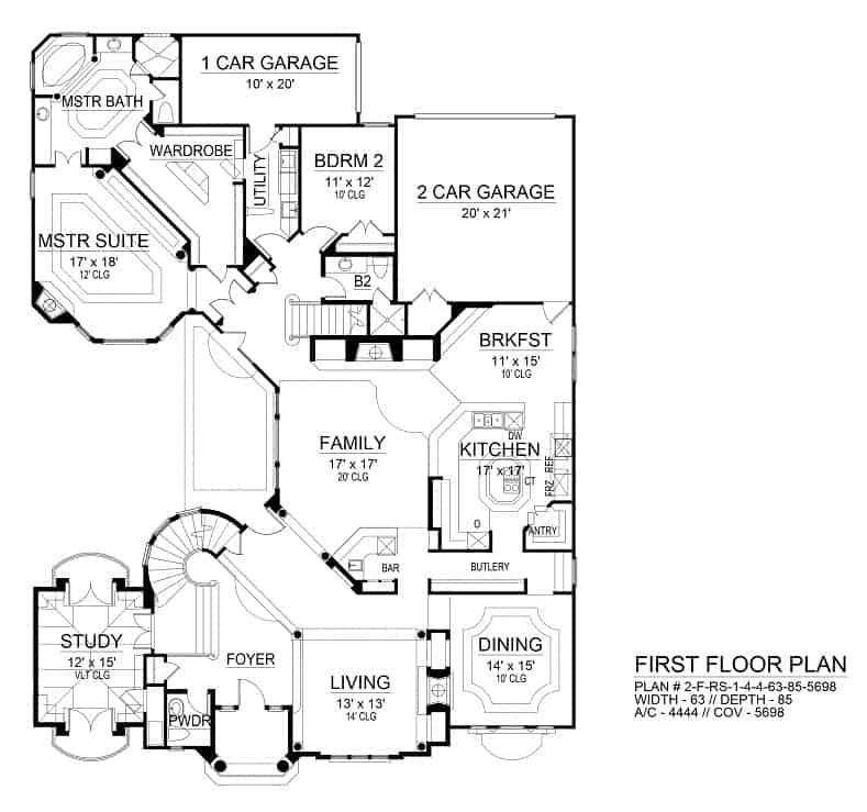 4 Bedroom Two Story Casa Blanca Floor Plan Home Stratosphere
