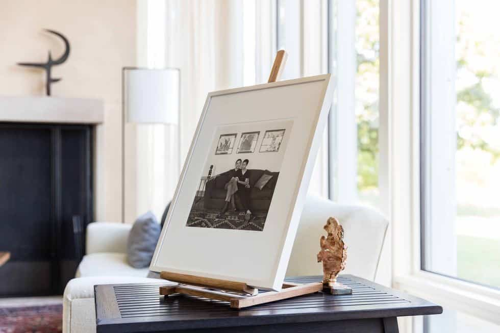 A closer and focused look at this framed photo on top of a side table set in the formal living room. Images courtesy of Toptenrealestatedeals.com.