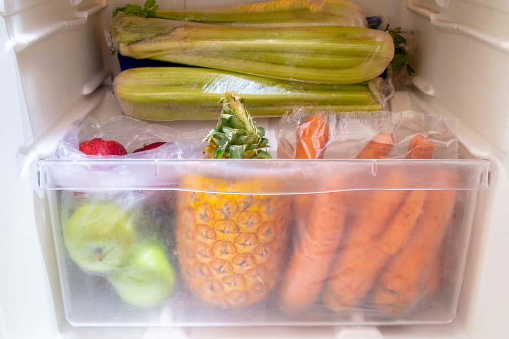 Overstuffed refrigerator drawer