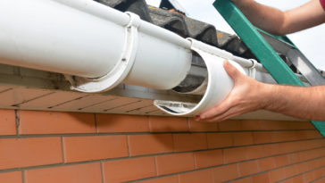 Photo of gutters being replaced