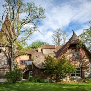 This fantastical home is one of the four houses in the compound. It has a unique aesthetic that makes it look straight out of a children's fairy tale book. Images courtesy of Toptenrealestatedeals.com.