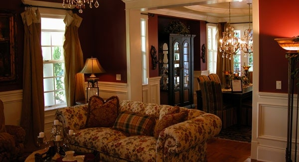 View of the formal dining room from the living room.