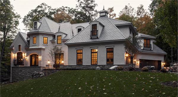 Two-Story 4-Bedroom European French Country Home