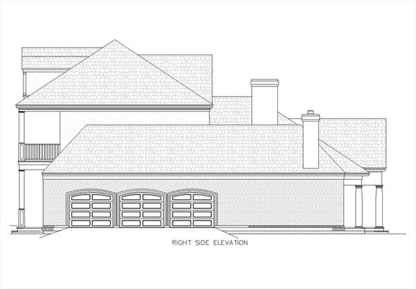Right elevation sketch of the two-story Magnolia Place.