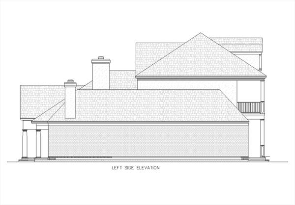 Left elevation sketch of the two-story Magnolia Place.