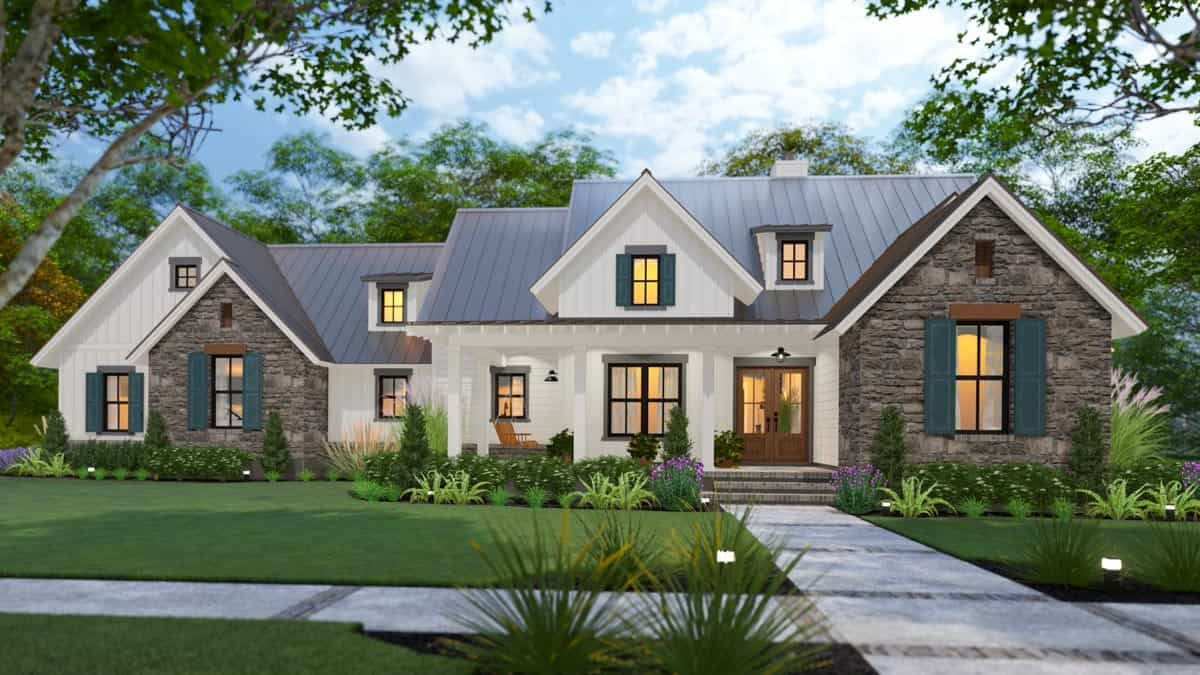 Two-Story 4-Bedroom New American Farmhouse