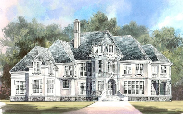 Perspective sketch of the two-story Amboise home.