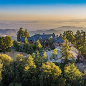 Aerial view of the property boasting its jaw-dropping architecture and landscaping design. Images courtesy of Toptenrealestatedeals.com.