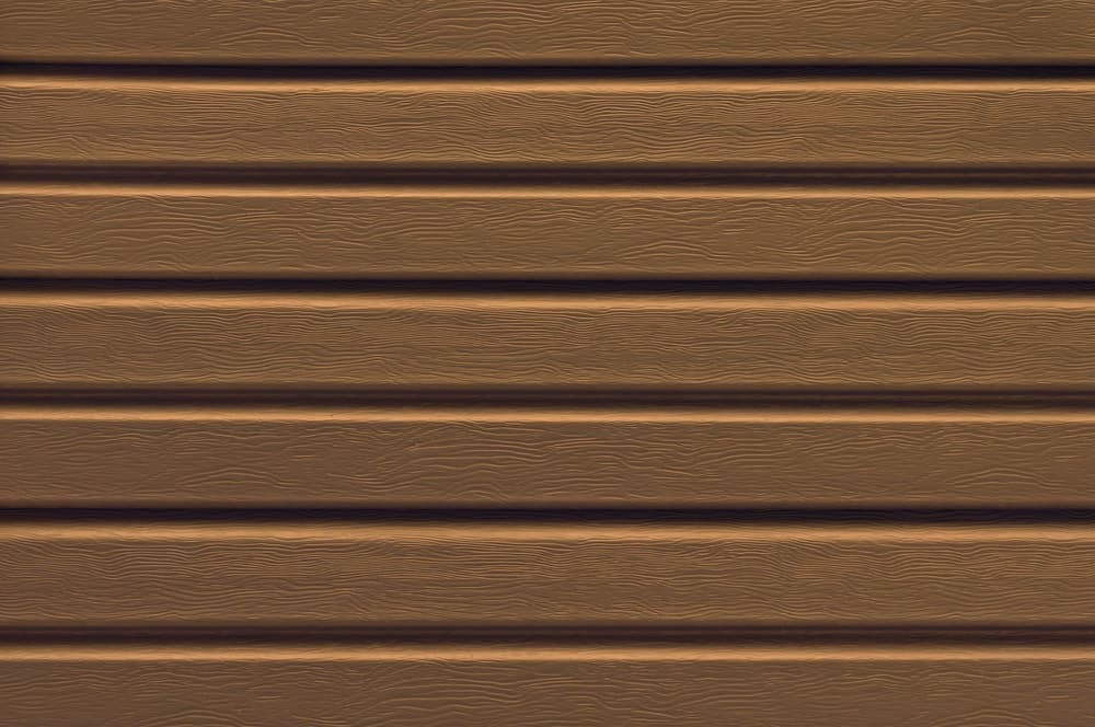 Close up of brown vinyl siding.