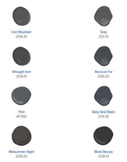 Options for gray paint colors