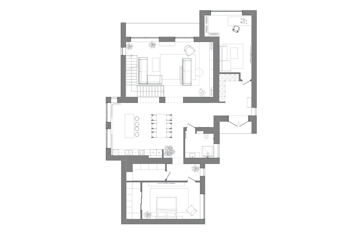 This is the illustration of the floor plan of the main level.