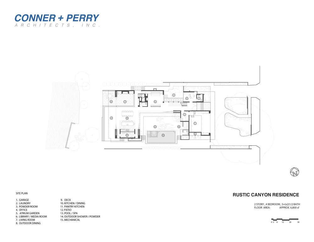 This is an illustration of the house's site plan showing the various sections of the house and their respective placing in the house.