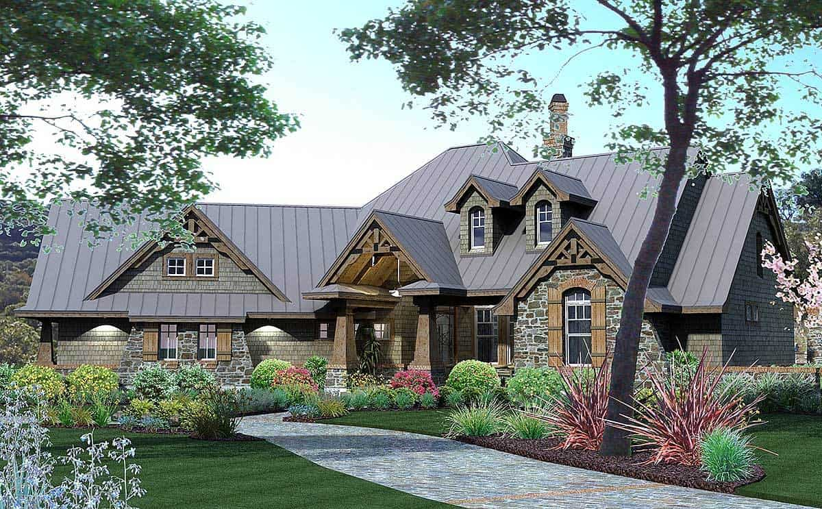 3-Bedroom Two-Story Rugged Craftsman Home