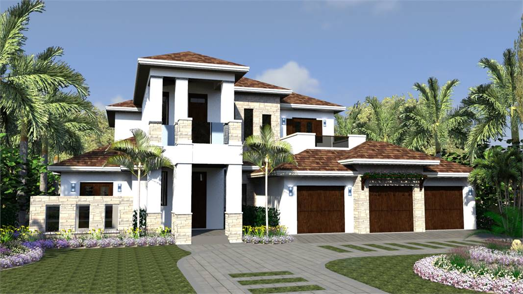 4-Bedroom Two-Story Lotus Mediterranean Style Home