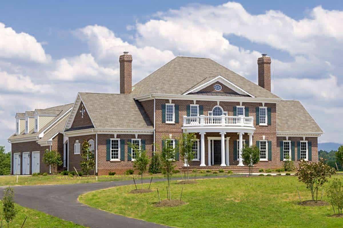 Georgian style house exterior
