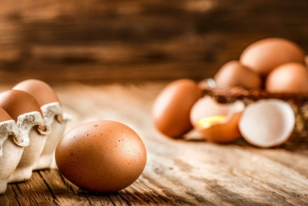 Farm-fresh organic eggs.