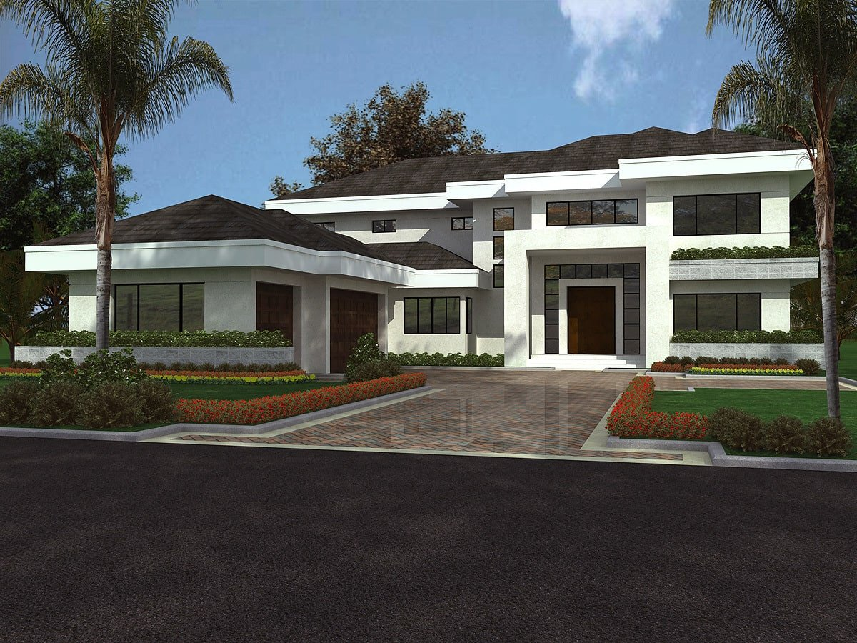 5-Bedroom Two-Story Contemporary Florida Style Home