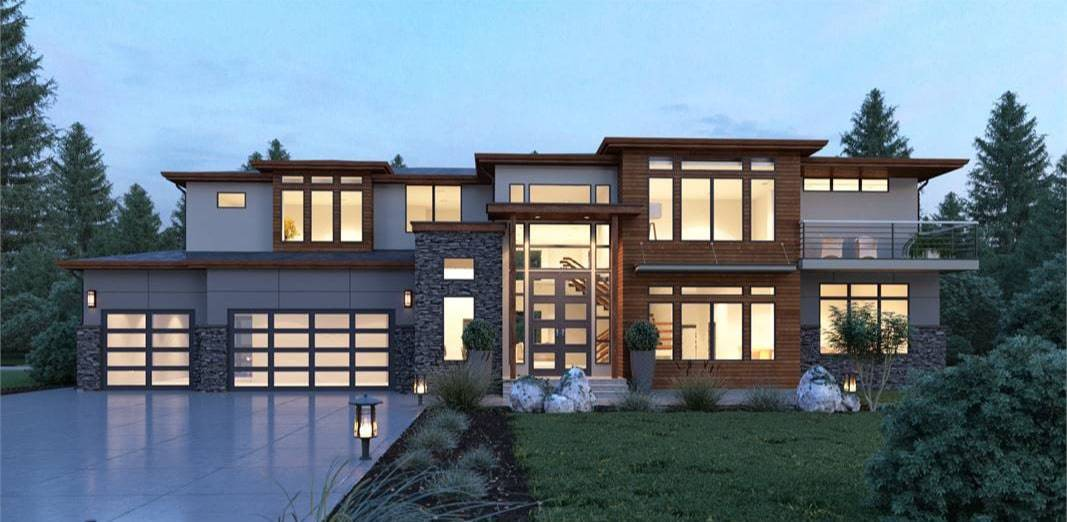 5-Bedroom Two-Story Contemporary-Style Home