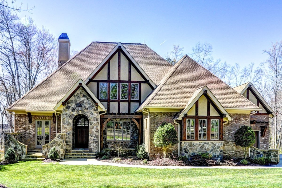 5-Bedroom Two-Story Tudor-Style Home with Optional Lower Level