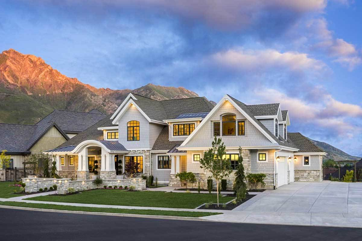 6-Bedroom Two-Story Northwest Home with Sports Court