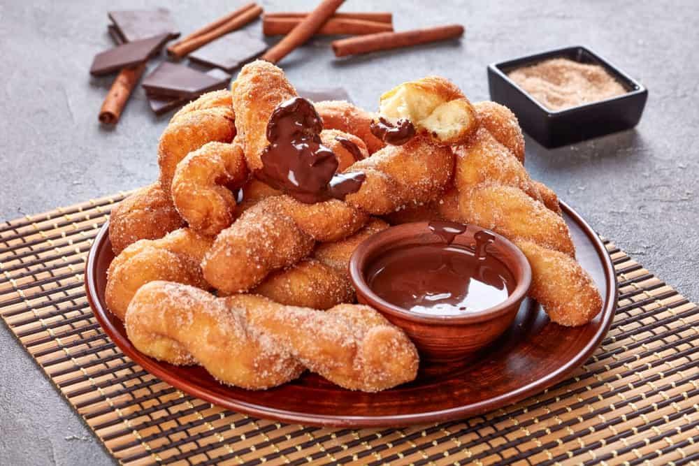 Twisted cinnamon donuts