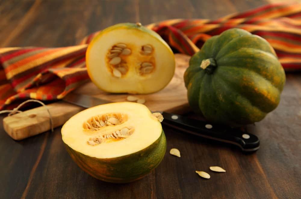 Green acorn squash