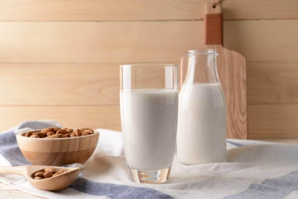 A Bottle of Almond Milk