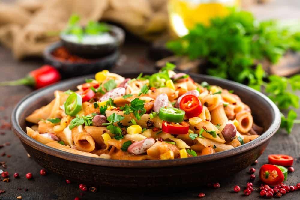 Bean Bolognese pasta