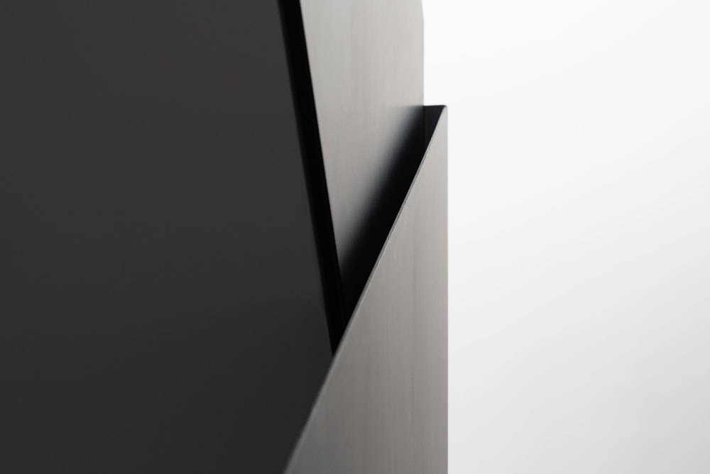 This is an even closer look at the modern design of the handles of the staircase.