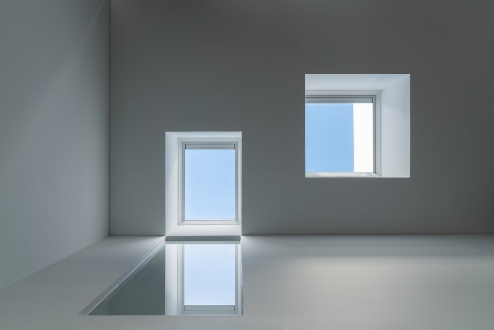 This is a look at the skylights with one smaller than the other.