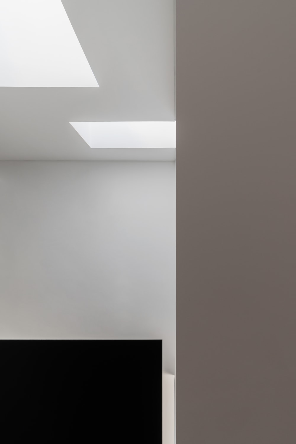 This is another look at the two skylights that give the staircase area a unique and bright look.