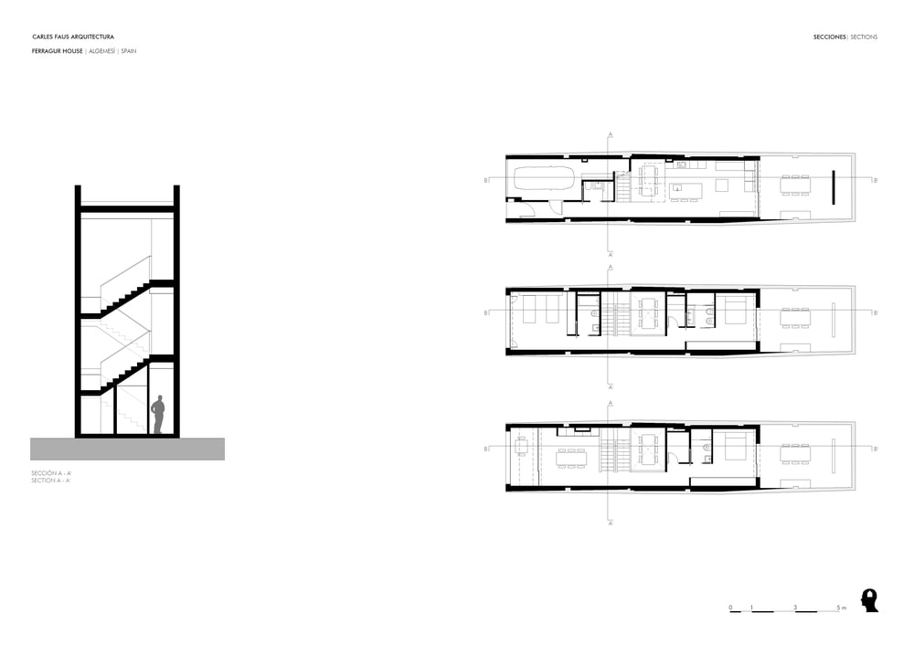 This is the illustration of the staircase for the three levels of the house along with the floor plans for the three levels.