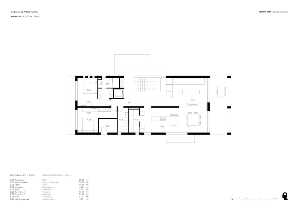 This is an illustration of the floor plan for the ground floor level.