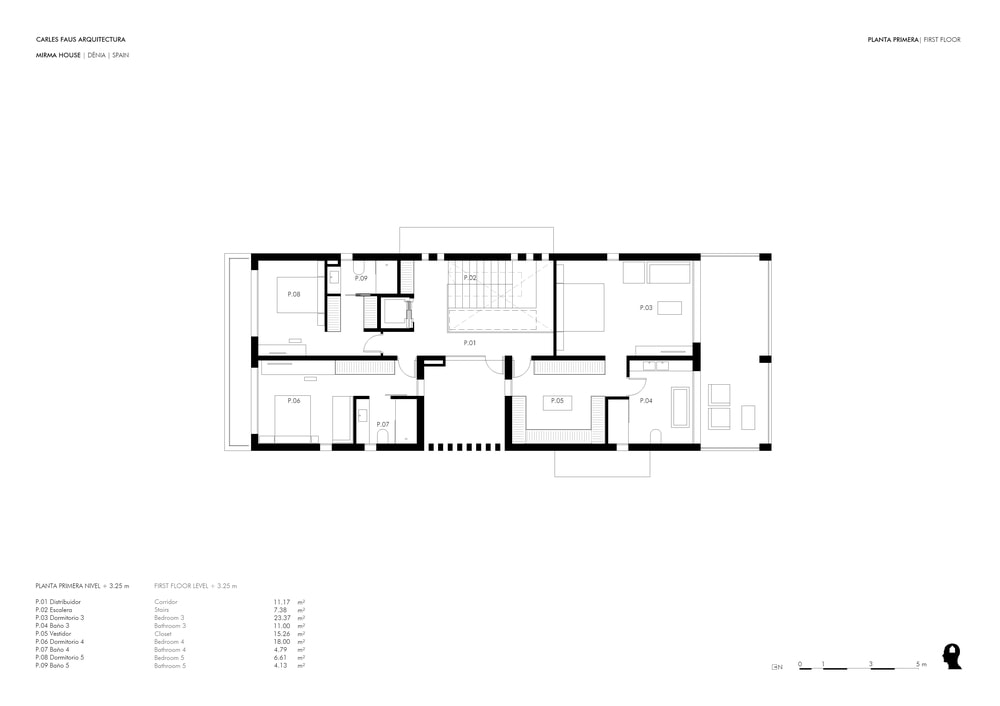 This is an illustration of the floor plan for the first floor.