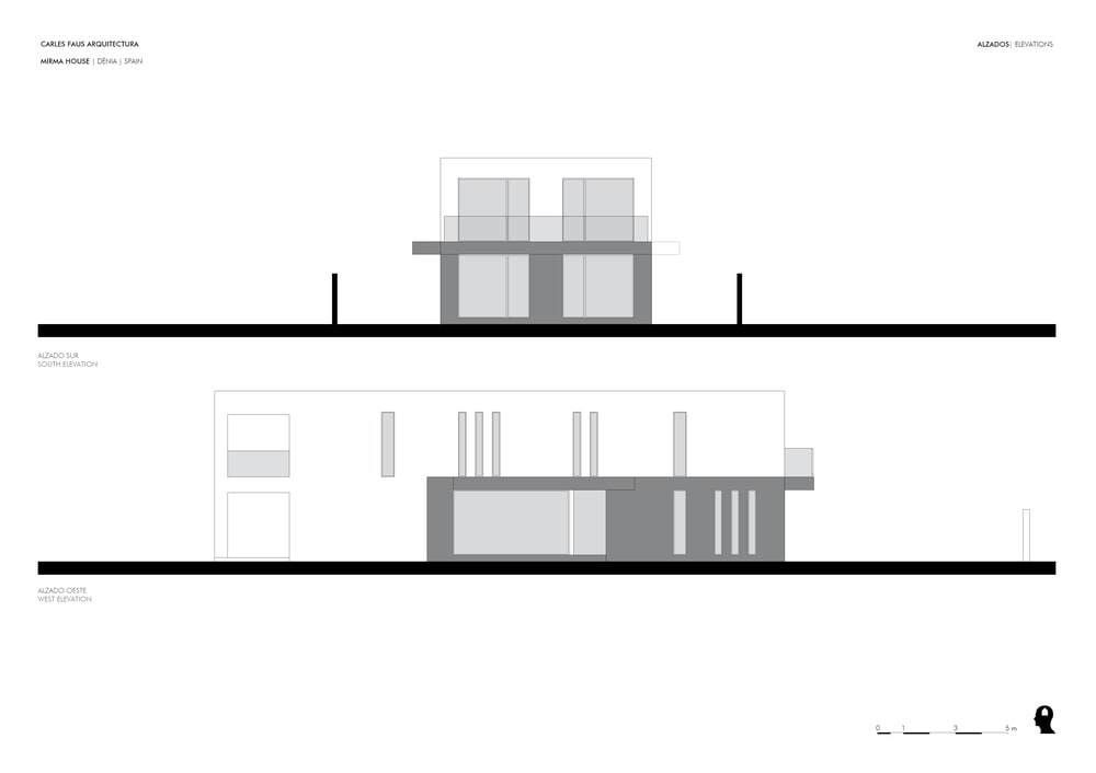 This is an illustration of the house depicting the south and west elevation.