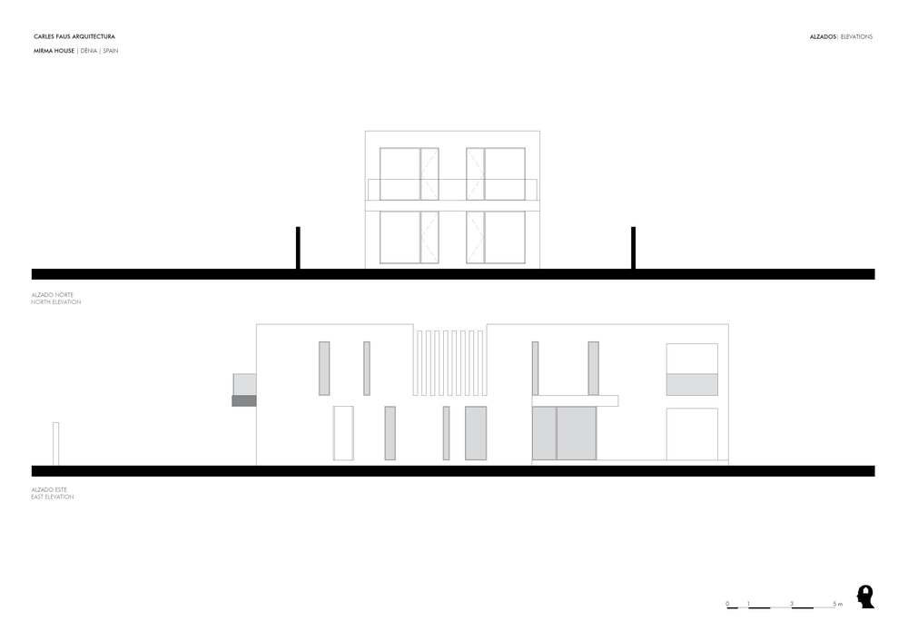 This is an illustration of the house depicting the north and east elevation.