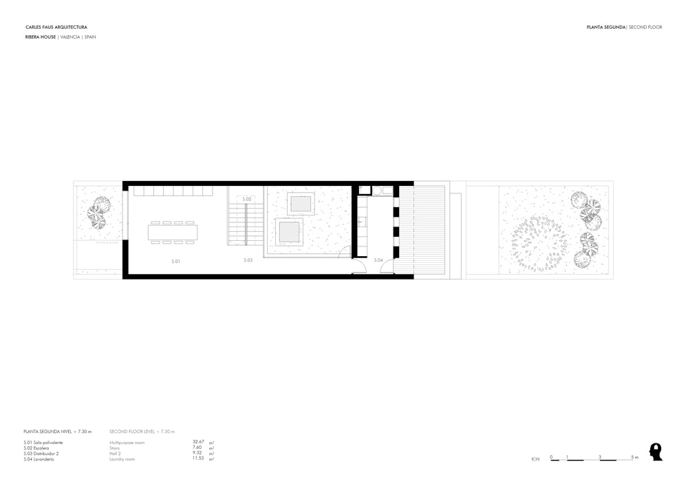 The floor plan for the second floor shows large rooms and wide open spaces.